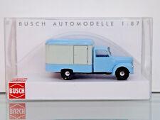 Busch 52001 - H0 1:87 - Framo V901/2 Carro de Maletas, Azul / Blanco -