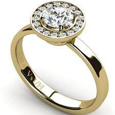 Yellow Gold Good Cut VS1 Fine Diamond Rings