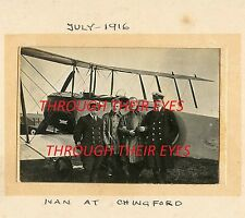 DVD SCANS WW1 PHOTO ALBUM ROYAL FLYING CORPS PILOT TADCASTER & CHINGFORD R.N.A.S