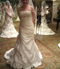 "Bridal Gown Wedding Dress Size 2 Ivory tailored to 5'0"" 110 lbs corset fastener"