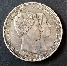 Belgique - Léopold Ier  - Jolie monnaie 5 Francs 1853 Mariage Duc Brabant
