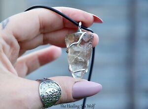 Earthy Smoky Quartz + Sterling Silver Pendant / Necklace Protection Grounding