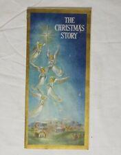"""Hallmark """"The Christmas Story"""" Advent Calendar Mid Century Tri Fold Die Cut"""