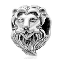 Lion Charm Bead 925 Sterling Silver