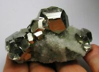 PYRITE BRILLIANT SCALENOHEDRON CRYSTALS on QUARTZS from PERU.....QUIRUVILCA MINE