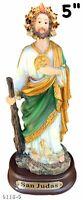 "5"" Inch Saint St. Jude San Judas Tadeo 6118-5 Estatua Saint Jude Statue Holy"