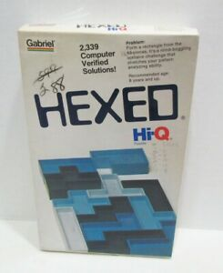 GABRIEL 1977 HEXED HI-Q BRAIN TEASER PUZZLE GAME IN BOX FACTORY SEALED CONTENTS