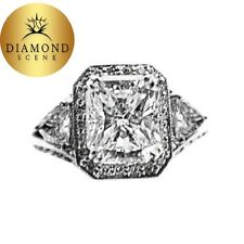 Vs2 Clarity Diamond Engagement Ring Certified Radiant Trillion Round F Color