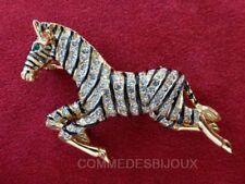 """Broche """"Zèbre"""" N° 7 dorée Galop Afrique Savane Safari - Bijoux pur Bestiaire"""