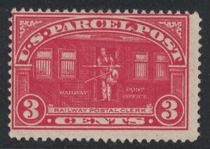 Scott Q3- MH- 3c Railway Post, Parcel post Stamp- 1912-13 Back of Book, Mint