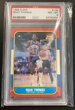 1986 Fleer Basketball #109 Isiah Thomas Detroit Pistons RC Rookie HOF PSA 8