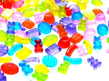 BULK BUY! 20pcs Mixed Glass Jelly Sweets Gummi Bears Haribo DIY Flatback Kit