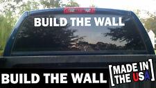 BUILD THE WALL Windshield Banner Decal Sticker deport USA TRUMP border shirt