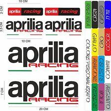 KIT 6 ADESIVI APRILIA RACING INTAGLIATI  + 4 BANDIERE  MOTO STICKERS AUTO COD36
