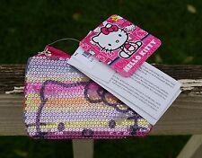 Hello Kitty Sanrio Pink Sequin Zipper Coin Purse Pouch FAB Starpoint 2013