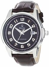 Bulova Men's 96B128 'Precisionist' Automatic Brown Leather Watch
