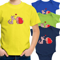 Lady and the Tramp Dog Love Toddler Kid Tee Shirt Infant Baby Bodysuit Clothes
