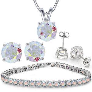 """Rainbow Moonstone - Silver Link Bracelet 7.5"""" - 8.25"""" Adjustable"""