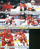 2019-20 Upper Deck Series 1 & 2 Calgary Flames Veterans Team Set of 12 Cards