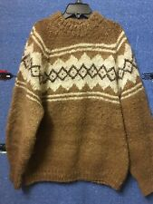 Hand Knit Oversize Sweater Pullover 100% Alpaca Made in Bolivia Medium
