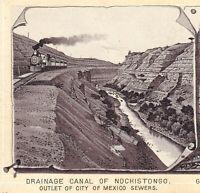 Dr Hartman Train 1890's Mexico City Railroad Photo-Lith Advertising Trade Card