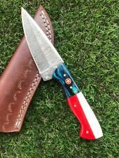 CUSTOM HANDMADE TWIST DAMASCUS STEEL SKINNER HUNTING KNIFE X 47,