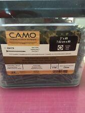 "Camo 3"" #9 Premium Deck Screws 1750 Screws Type 17 Point New"