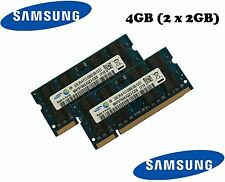2 x 2gb Samsung 4gb ddr2 667 MHz Notebook RAM SODIMM pc2-5300s