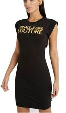 VERSACE JEANS COUTURE WOMEN'S SHIFT DRESS IN BLACK SIZE M