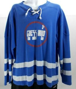 Vintage The Guess Who Winnipeg Jets Hockey Crew Neck Sweatshirt Pullover Swag XL