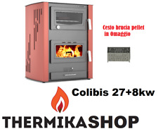 stufa a legna idro con forno Colibis 27+8 kw (cesto brucia Pellet incluso)