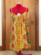 Tigerlily | Silk Paisley Triangle Sundress Dress Beach Cover Up sz10 RRP$179