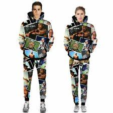 Tupac 2PAC 3D Esporte de impressão calças jogger Conjunto moletom moletom capuz Casual
