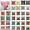 Retro Cushion Cover Pillow Case Home Decor Bed Soft Back Linen Waist Throw