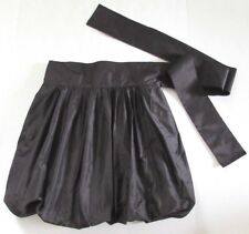 Emilio Pucci Black Bubble Balloon Skirt 100% Silk Made in Italy Size 6