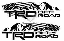 TRD Mountains off road US flag Tacoma Tundra FJ Cruiser sticker decal any colors