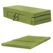 Lime Double 120cm Wide Folding Sofabed Futon Fold Out Foam Guest Mattress Bed