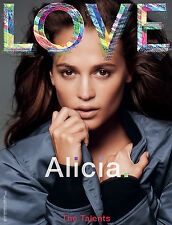 LOVE Magazine #14 ALICIA VIKANDER Kate Moss EDIE CAMPBELL Mia Goth @NEW@