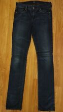Citizens of Humanity Sz 27 Ava Low Rise Straight Leg Jeans Dark Wash Inseam 34""