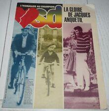 SUPPLEMENT VSD 1987 HOMMAGE A JACQUES ANQUETIL CYCLISME TOUR FRANCE