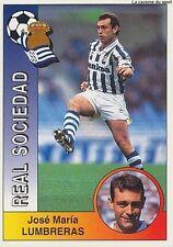 N°261 LUMBRERAS # REAL SOCIEDAD STICKER CROMO PANINI LIGA 1995 ESPANA