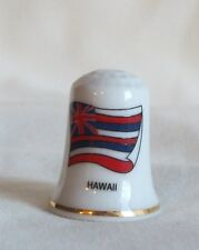 Hawaii Flag Porcelain Thimble
