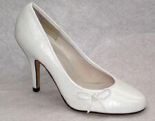 NEW WOMEN'S LADIES COURT SHOES WHITE COLOR KITTEN HEEL SIZE 3-6-7 UK