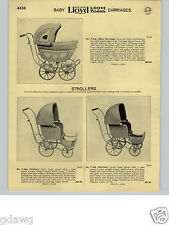 1932 PAPER AD 4 PG Lloyd Loom Baby Carriages Stroller Buggy Fine Woven Doll