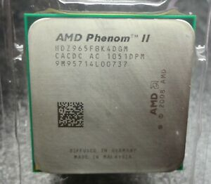 AMD Phenom II X4 965 Black Edition HDZ965FBK4DGM 3.4GHz Quad-Core Processor CPU