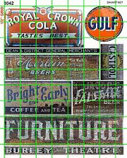1042 DAVE'S DECALS HO BEER GULF GAS FURNITURE COLA OLD BUILDING SIGNS ADS