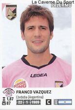 FRANCO VAZQUEZ # ARGENTINA US.PALERMO RARE UPDATE STICKER CALCIATORI 2012 PANINI
