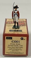 William Britain Metal Toy Soldier REDCOATS British Private 1st Foot 1795 #43001