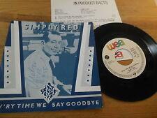 "7"" POP SIMPLY RED-ev 'ry time I Say Goodbye (2) canzone WEA Elektra presskit WOC"