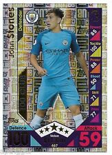 2016 / 2017 EPL Match Attax (467) John STONES Manchester City 100 Club